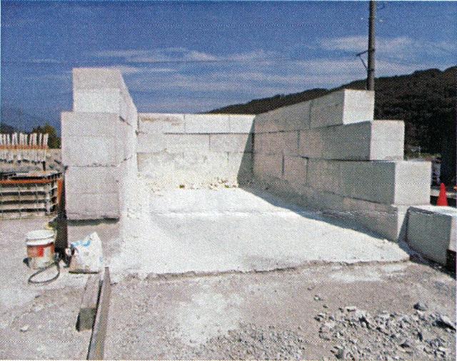 置き型コンクリートブロック使用例